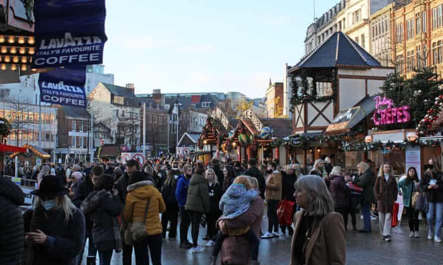 The Nottingham Christmas market on Saturday