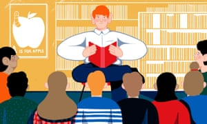 Illustration of a librarian
