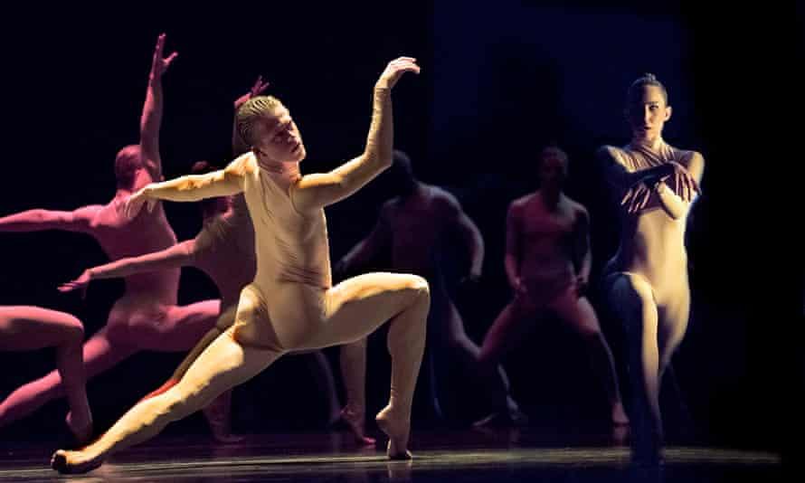Scott Fowler and Kirsten Wicklund with Ballet BC dancers in Sharon Eyal's Bill.