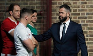 Owen and Andy Farrell at the launch of the Six Nations in January.