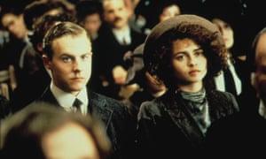 Aspirant to culture … Samuel West as Leonard Bast and Helena Bonham Carter as Helen Schlegel in Howards End.