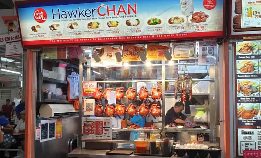 Liao Fan Hawker Chan, where diners can eat Michelin-starred food for around £1.65.