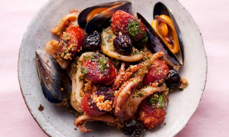 Squid and chorizo couscous