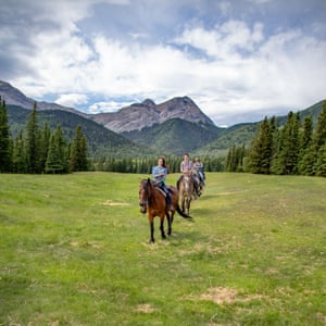 Horse riding in the Rockies.