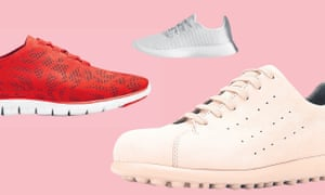 Comfy trainers (left to right): Cole Haan Zerogrands $89.97 (£70.22), Allbird Tree Runners, £95, and Camper Pelotas, £135.