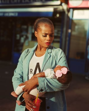 Cybil McAddy holds her daughter Lulu in Clapton, east London. The image by Enda Bowe has been shortlisted for the Taylor Wessing prize