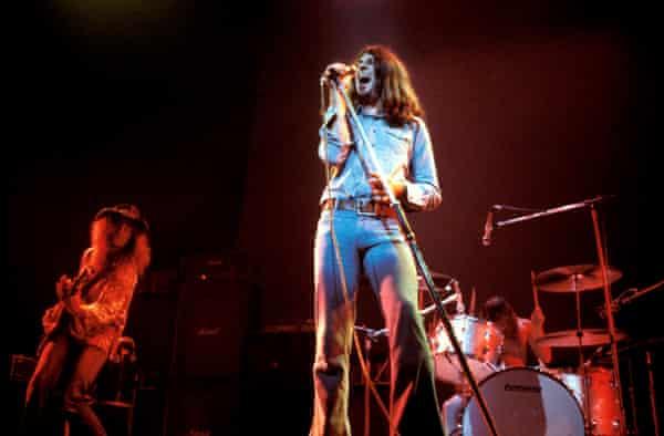 The birth of headbanging … Gillan with Deep Purple in 1973.
