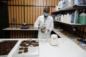 Philip Ouma, a laboratory manager, Nairobi, Kenya, February, 2021.