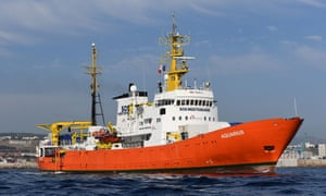 The Aquarius rescue ship