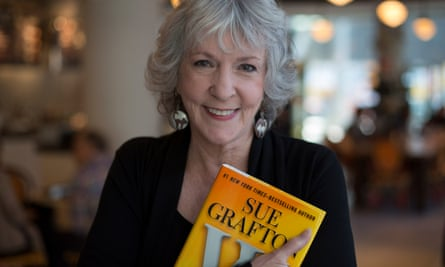 Sue Grafton with her 23rd  novel W is for Wasted.