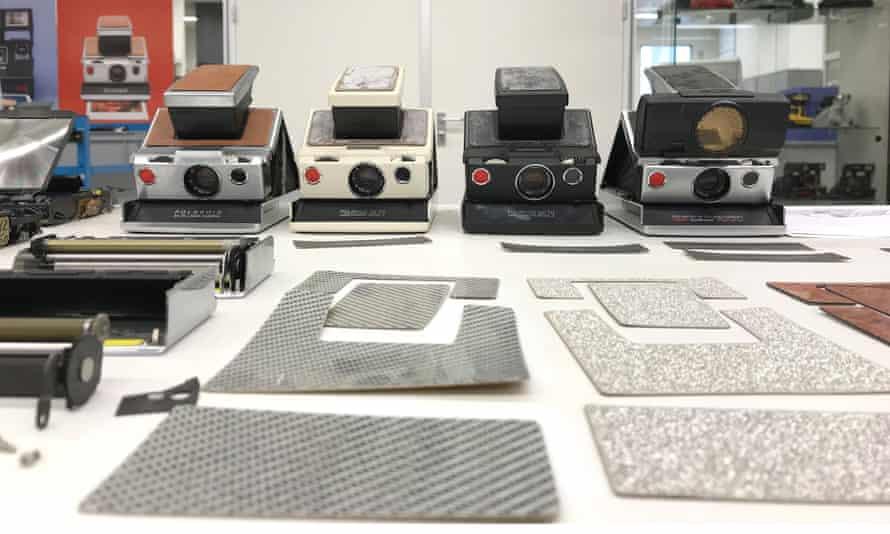 Vintage SX-70 cameras