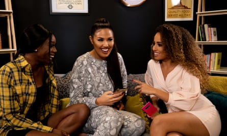 Yewande Biala, Anna Vakili and Amber Rose Gill, hosts of the Reality Check podcast.