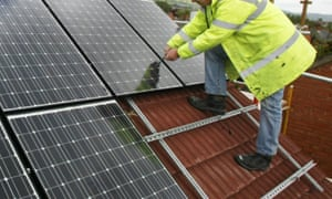 A project to install solar panels in schools.