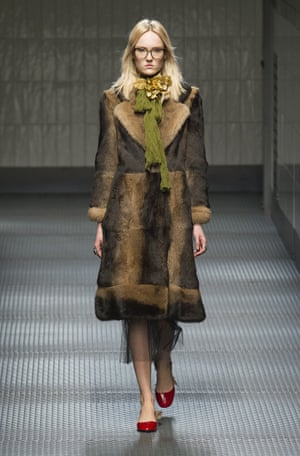 The Gucci autumn/winter fashion show, which took place during Milan Fashion Week and inspired the latest fashion fascination with Margot Tenenbaum
