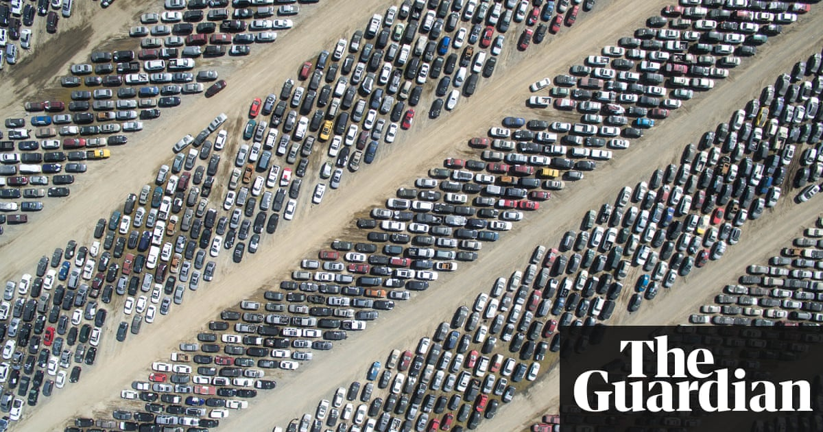 An Aerial Shot From Drone Photography Platform SkyPixel Of A Huge Parking Lot