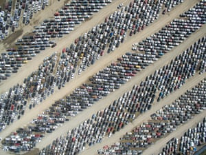 An aerial shot from drone photography platform SkyPixel of a huge parking lot.