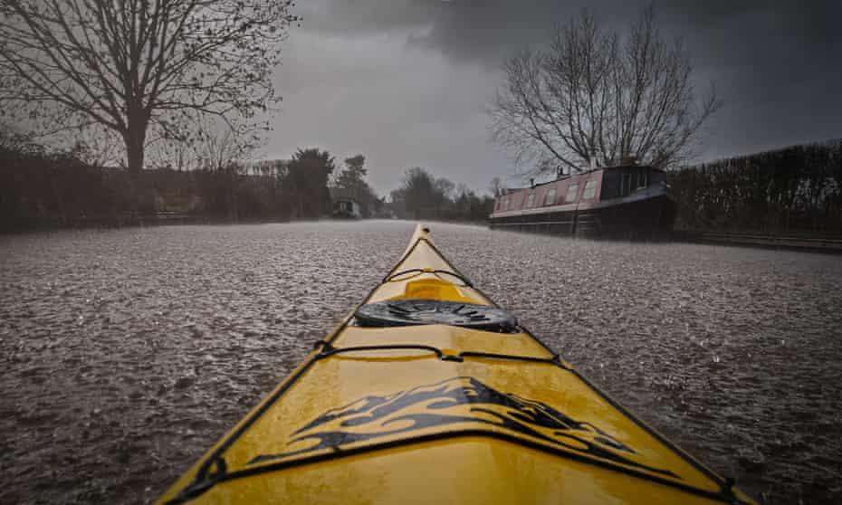 Winter canal scene.
