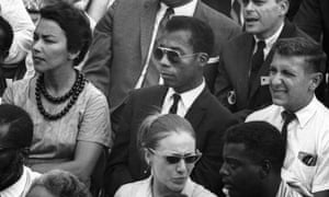James Baldwin, centre, the subject of the 'peerless' I Am Not Your Negro.
