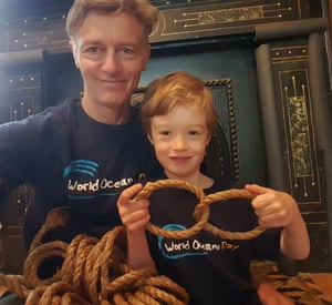 Gerard Neil and son Julian on World Oceans Day