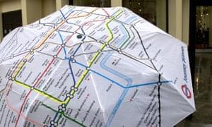 London underground map on an umbrella