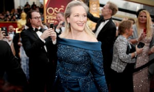 Actor Meryl Streep attends the 89th Annual Academy Awards on Sunday following her public spat with Karl Lagerfeld.