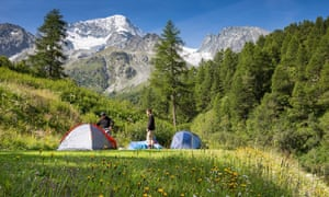 Camping Arolla, Switzerland.