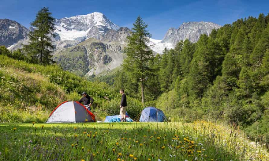 Camping Arolla, Switzerland.