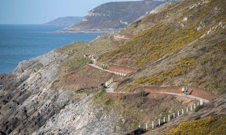 Coast path near Langland beach, Wales