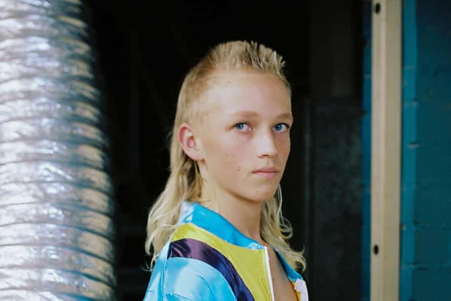 Josiah Farthing, 14, from Newcastle, an entrant in the junior mullet category