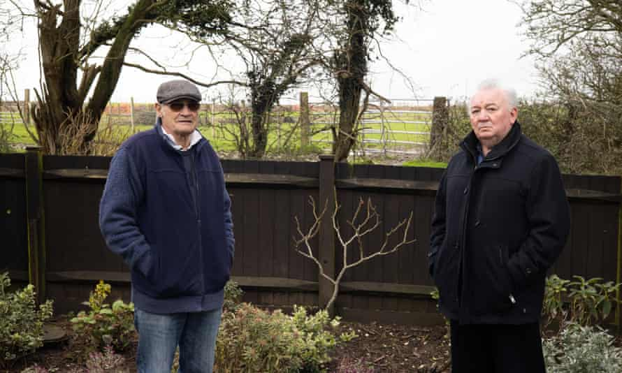 Mick Palmer, 78 and Kieron Jaynes, 70, who own houses metres away from the proposed site