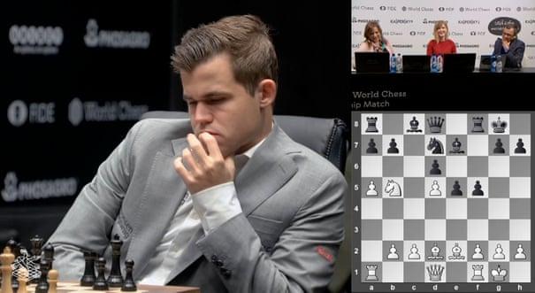 Magnus Carlsen saves draw as Fabiano Caruana falters in Game 8 – as