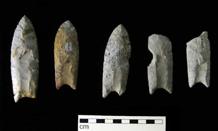 Clovis points from the Rummells-Maske Site, 13CD15, Cedar County, Iowa