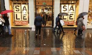 Shoppers on Buchanan Street in Glasgow.
