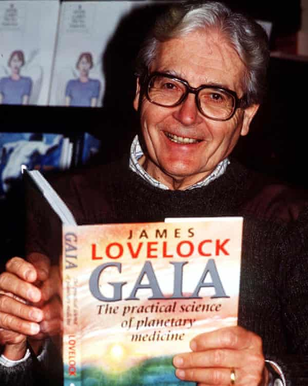 Lovelock in 1991 with the book that made his name