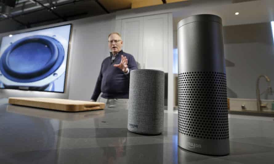 David Limp displays a new Echo