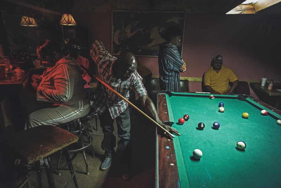 A pool game in a drinking club in Tchula.
