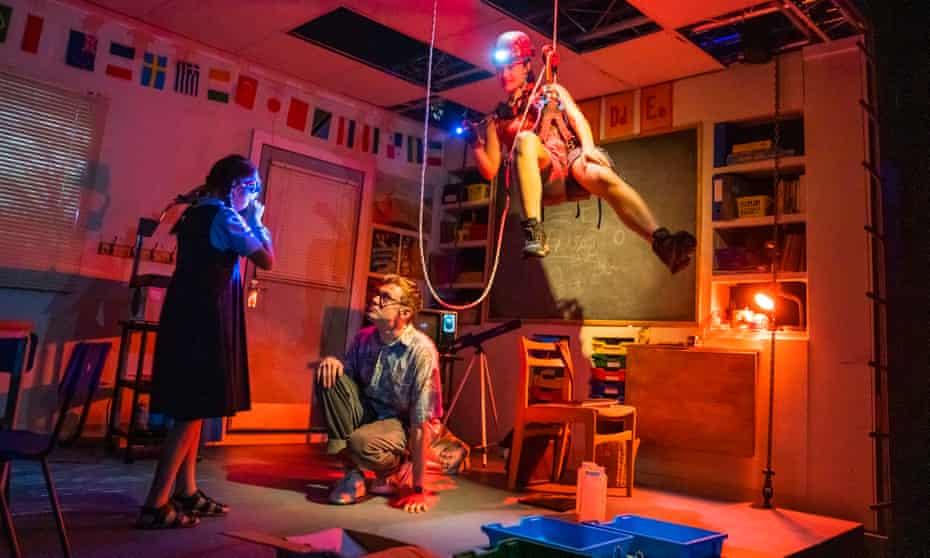 Asha Sylvestre, Lewis Mackinnon and Sarita Gabony in Deciphering.