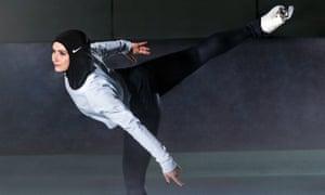 Zahra Lari wears Nike's new hijab