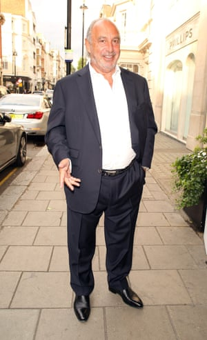Philip Green attending the Richard Desmond book launch party at the Claridges hotel ballroom on June 15, 2015.