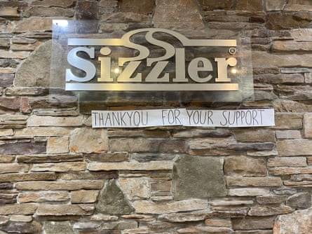 A sign at Australia's last Sizzler