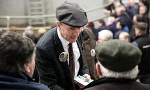 Michael Healy-Rae canvassing in Listowel in Ireland.