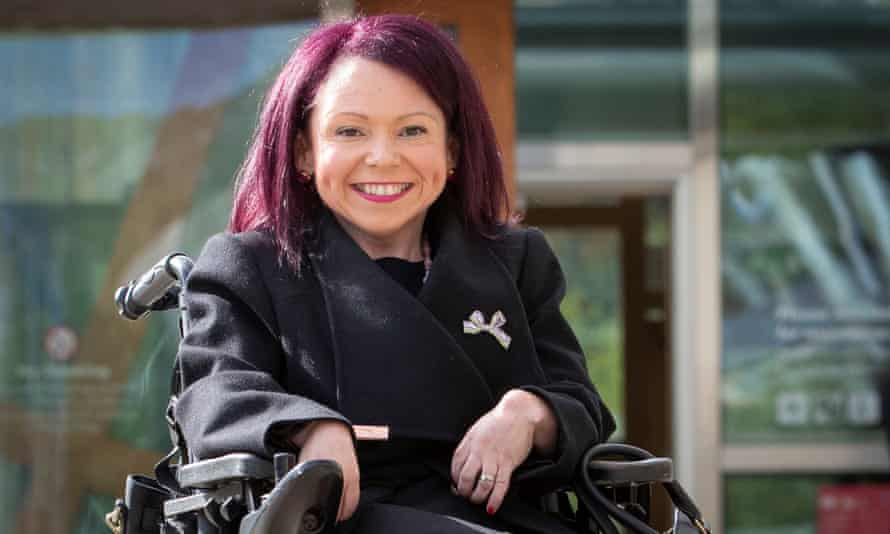 Labour's Pam Duncan-Glancy, the first permanent wheelchair user to be elected to the Scottish parliament.