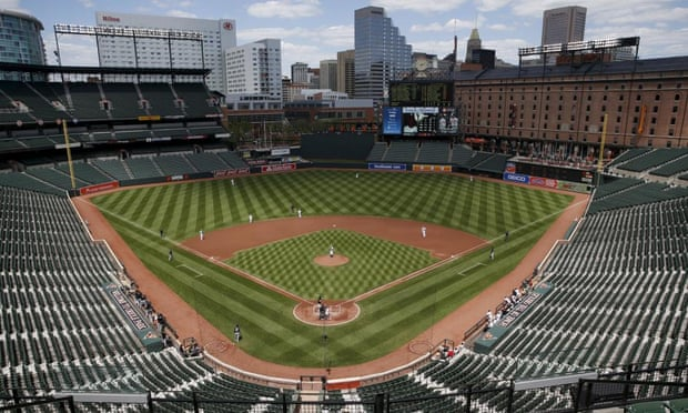 Unprecedented? The Orioles play the White Sox at an empty Camden Yards.