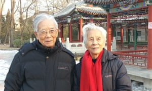 He Yanling and his wife Song Zheng, who died last year, in February 2013.