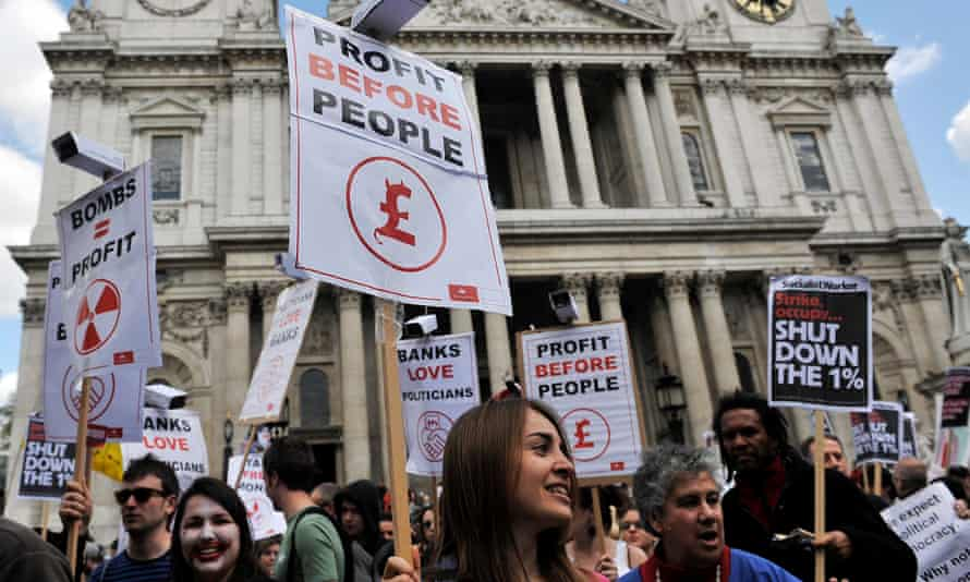 The Occupy London protests outside St Paul's cathedral in 2012.