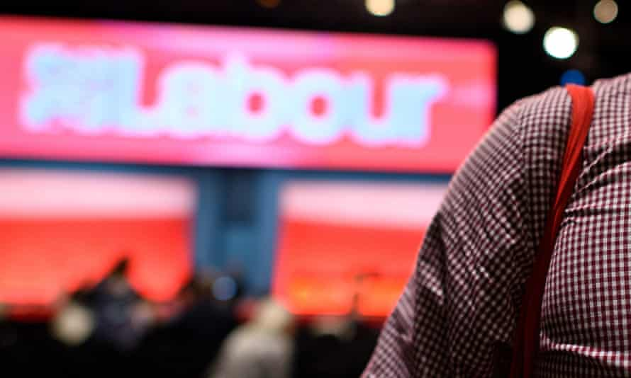 Labour sign at a party conference