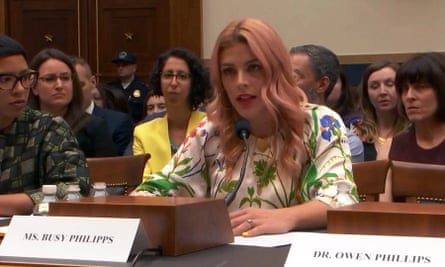 Busy Philipps testifies about the threat to abortion rights before a House judiciary subcommittee.