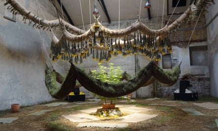 Brazilian artist Daniel Lie is combining the estate's natural materials to create The Negative Years, a living installation.