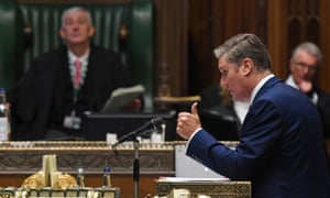 Keir Starmer at prime minister's questions last week.