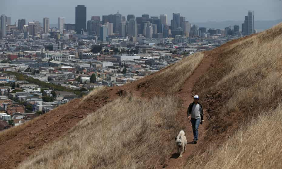 Bernal Heights Park in San Francisco, Cailifornia.